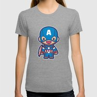 Captain Womens Fitted Tee Tri-Grey SMALL