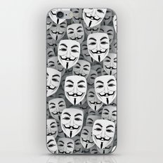 Anonymous masks iPhone & iPod Skin