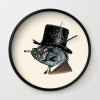 Mr. Fish Wall Clock