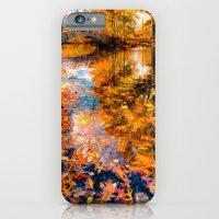 iPhone & iPod Case featuring Boston Fall Foliage Reflection by LudaNayvelt