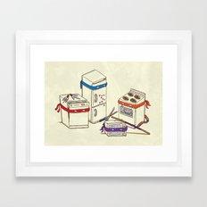 Teenage Mutant Ninja Kitchen Appliances Framed Art Print