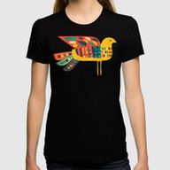 Century Bird Womens Fitted Tee Black SMALL