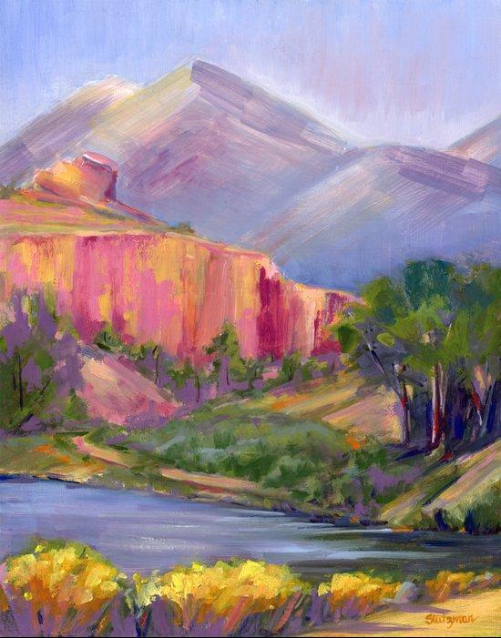 Ruby Mountain II Art Print