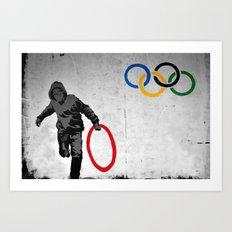 Banksy Olympic Rings Art Print