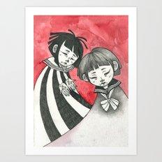 sad children Art Print