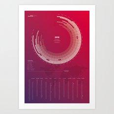 Bureau Oberhaeuser Calendar 2016 purple, german Art Print