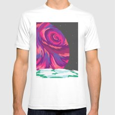 New Moon Mens Fitted Tee White SMALL