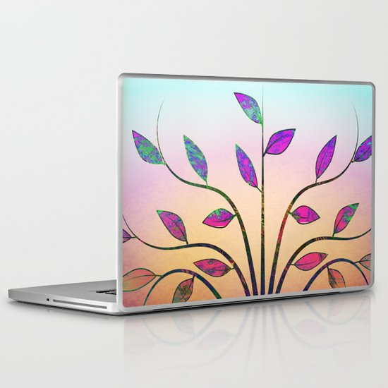 Ornamental Tree Laptop & iPad Skin