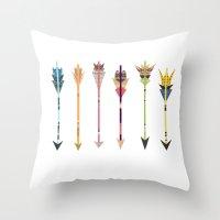Arrow Collage Throw Pillow