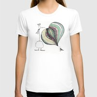 Too Tall Womens Fitted Tee White SMALL