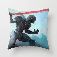 Antiborg Throw Pillow