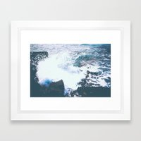 BREAKING POINT Framed Art Print