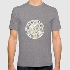Optical Illusions - Famous Work of Art 3 Mens Fitted Tee Tri-Grey SMALL