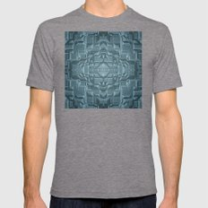 Future Sci Fi City Mens Fitted Tee Tri-Grey SMALL
