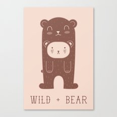 WILD + BEAR print Canvas Print