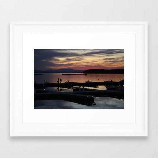 Champlain Dusk Framed Art Print