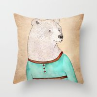 Señor Oso Throw Pillow