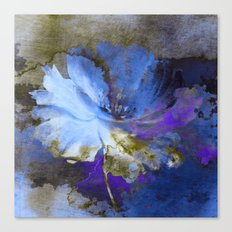 Blue Abstract Flower And… Canvas Print