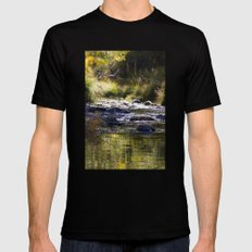 Creekside View Mens Fitted Tee Black SMALL