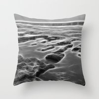 Abstract coastal rock formations in Queensland Throw Pillow
