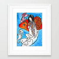 The Sea King's Daughter Framed Art Print