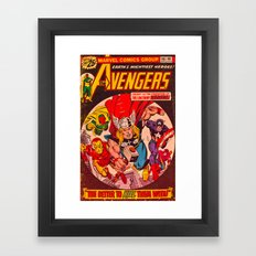 Superhero Cover Framed Art Print