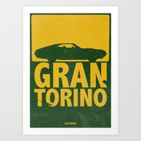 Gran Torino - Minimal Po… Art Print