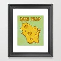 Beer Trap Framed Art Print