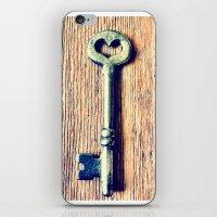 Heart Shaped Key iPhone & iPod Skin