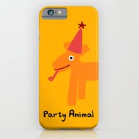 iPhone & iPod Case featuring Party Animal-Orange by ts55