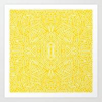 Radiate - Freesia Art Print