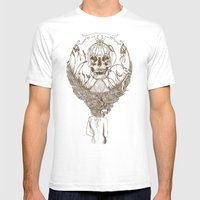 Lady Death // Brown Mens Fitted Tee White SMALL