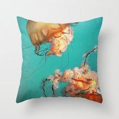 The Sea Ballet Throw Pillow