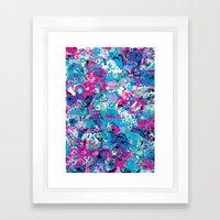 Floral Maze Framed Art Print