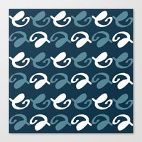 Night pattern Canvas Print