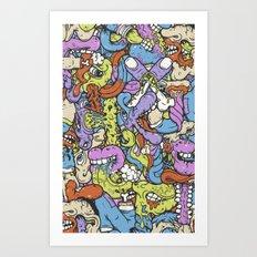 Alphabetcha Collage Art Print