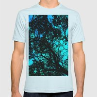 Shining Through Mens Fitted Tee Light Blue SMALL