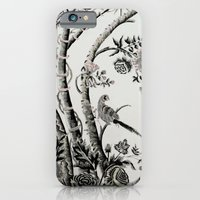 iPhone & iPod Case featuring Peacock Tree Natural by The Digital Weaver