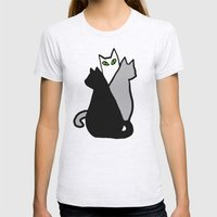 Katze Womens Fitted Tee Ash Grey SMALL
