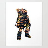 Dark Party Dude Art Print