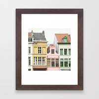 Gent Houses - Belgium Photography Framed Art Print