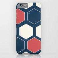 Hexed Navy iPhone 6 Slim Case