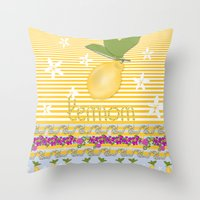 Lemon From Capri Throw Pillow
