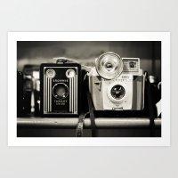 A Pair Of Kodak Brownies… Art Print