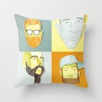 Beard by Beard Throw Pillow