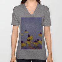 Lilac and Yellow Unisex V-Neck