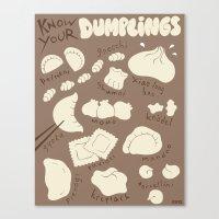 Know Your Dumplings Canvas Print