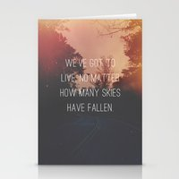 Fallen Skies Stationery Cards