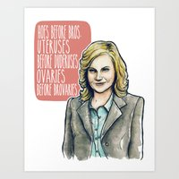 Leslie Knope Art Print