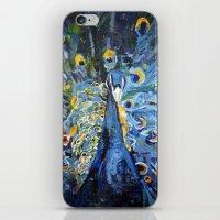 Blue Peacock  iPhone & iPod Skin